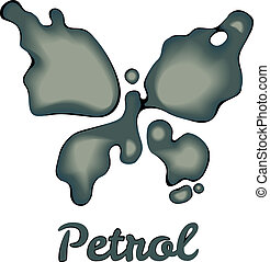 Butterfly made of petrol