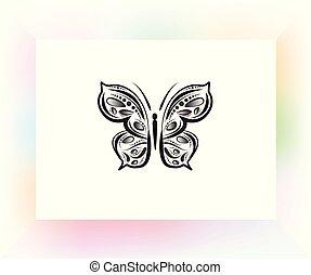 Butterfly mandala art