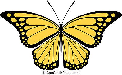 butterfly monarch vector