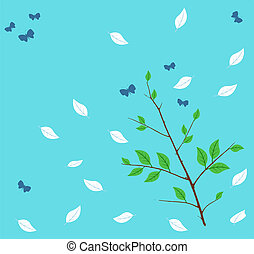 butterfly on a blue background