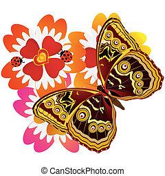 Butterfly on a flower -6