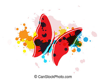 butterfly on art background
