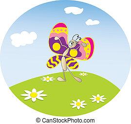 butterfly on meadow