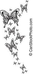 butterfly - ornamental butterflies made in eps