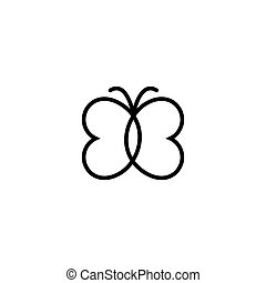 Butterfly outline vector icon