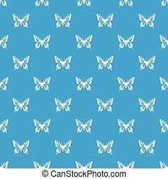 Butterfly pattern seamless blue