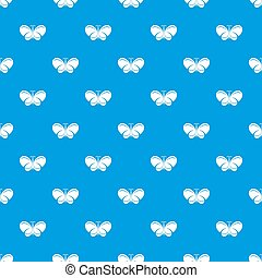 Butterfly pattern seamless blue