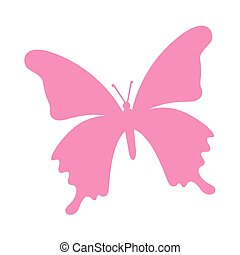 butterfly pink silhouette icon
