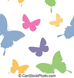 butterfly second - butterfly simple seamless pattern in...
