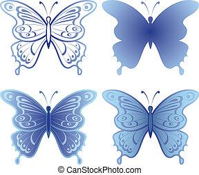 Butterfly, set