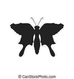 Butterfly silhouette icon. Insect design. Vector graphic
