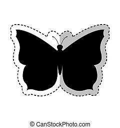 butterfly silhouette isolated icon
