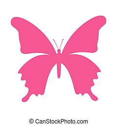 butterfly silhouette pink isolated icon