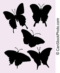 Butterfly silhouettes 01.