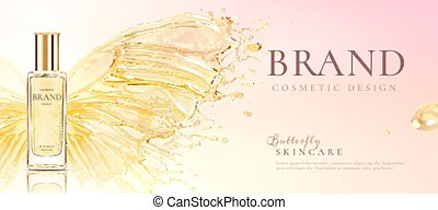 Butterfly skincare product poster