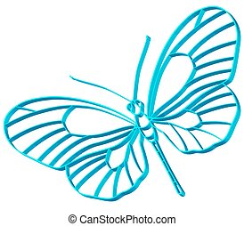 Butterfly symbol for various design