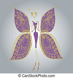 Butterfly - the woman of fashion.4