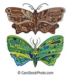 Butterfly - Vector card