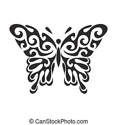 Butterfly vector icon - Graphic icon of butterfly. Butterfly...