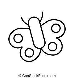 Butterfly vector icon on white background. Outline design. Eps 10