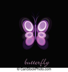 butterfly vector illustration on black background