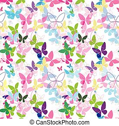 butterfly vector pattern colorful seamless pink blue