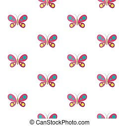Butterfly. Vector seamless pattern