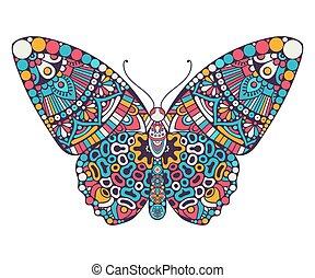 Butterfly. Vintage decorative elements