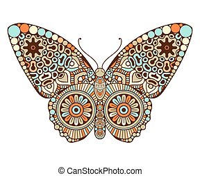 Butterfly. Vintage decorative elements