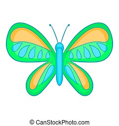 Butterfly with small wings icon, cartoon style