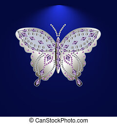 butterfly with stones 1