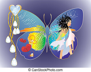 butterfly woman,