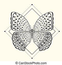 butterfly zentangle 2 - Color Butterfly 2