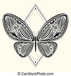 butterfly zentangle 3