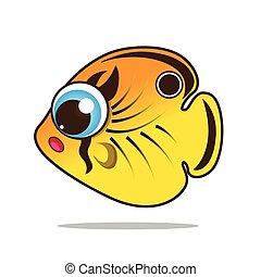 butterflyfish cute cartoon