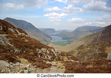 Buttermere and valley from Haystacks horiz