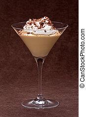 Butterscotch Pudding - Butterscotch pudding in a glass...