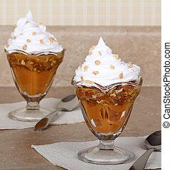 butterscotch, pudim, sobremesa
