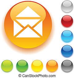 button., 光沢がある, 電子メール