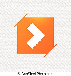 button., 印, 矢, icon., 次に, ナビゲーション, シンボル。