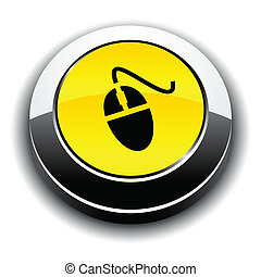 button., 輪, 3d, 老鼠