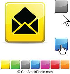 button., 電子メール, グロッシー