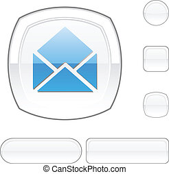 button., 電子メール, 白