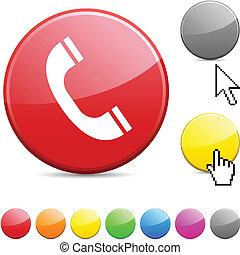 button., 電話, グロッシー