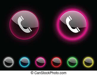 button., 電話