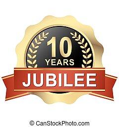 button 10 years jubilee
