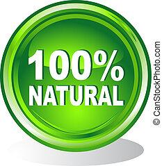 Button 100% natural