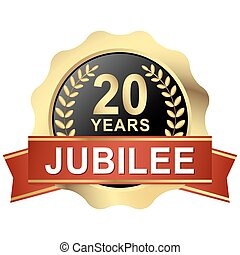 button 20 years jubilee