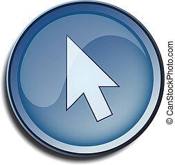 button 2d cursor arrow white 2