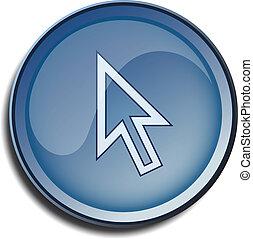 button 2d cursor arrow white